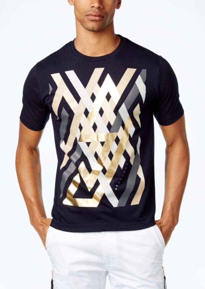 Sean john sean john men 39 s linear geometric graphic print t for Big and tall printed t shirts