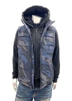 Sean John Men's Vest with Bibbed Hood