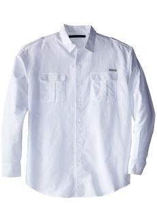 Sean John Men's Big and Tall L/s Solid Linen Shirt  3X