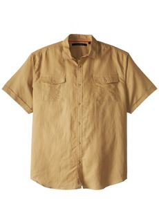 Sean John Men's Big and Tall Ss Solid Linen Shirt  3XL