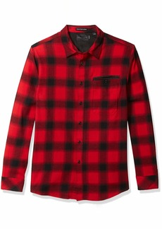 Sean John Men's Buffalo Plaid Long Sleeve Button Up Shirt  L