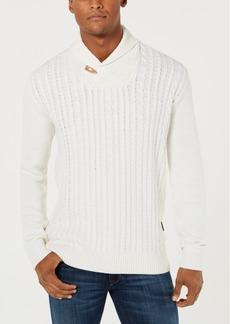 Sean John Men's Cable Knit Shawl Collar Sweater