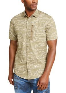Sean John Men's Camouflage Military Flight Short Sleeve Shirt