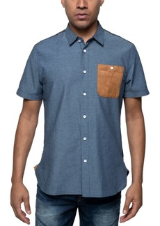 Sean John Men's Chambray Plaid Shirt