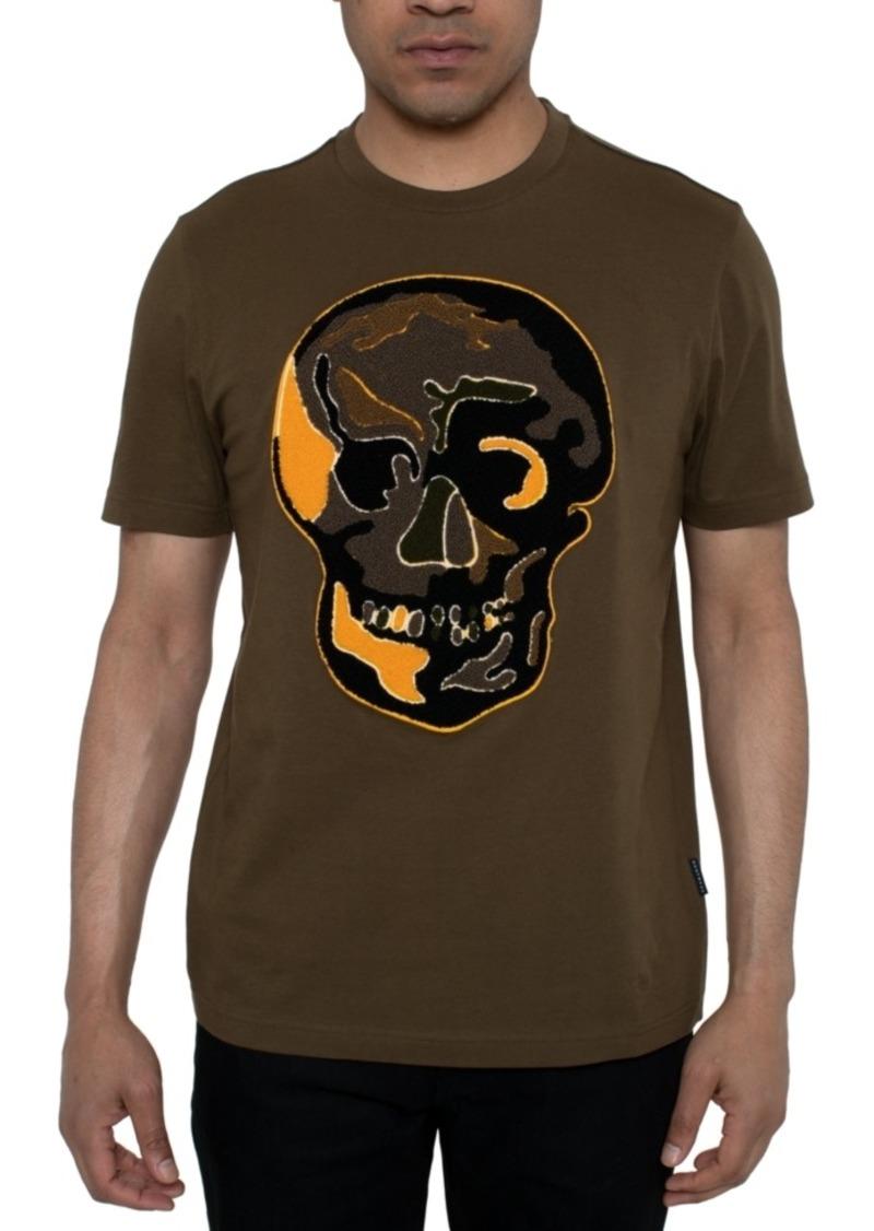 Sean John Men's Chenille Skull Graphic T-Shirt