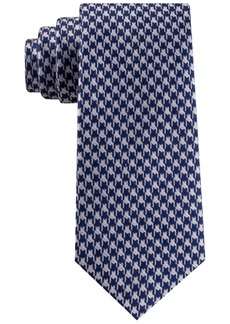 Sean John Men's Classic Etched Houndstooth Silk Tie