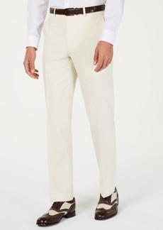 Sean John Men's Classic-Fit Off White Solid Suit Pants