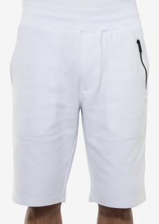 "Sean John Men's Classic-Fit Ottoman-Knit 11"" White Party Shorts, Created for Macy's"