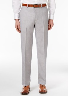 Sean John Men's Classic-Fit Silver and Gray Sharkskin Dress Pants
