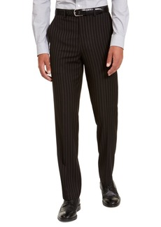 Sean John Men's Classic-Fit Stretch Black Pinstripe Suit Separate Pants