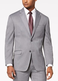 Sean John Men's Classic-Fit Stretch Gray Tic Suit Jacket