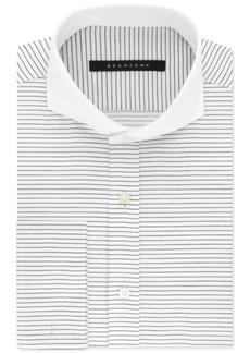 Sean John Men's Classic/Regular Fit Black Stripe French Cuff Dress Shirt
