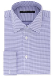 Sean John Men's Classic/Regular Fit Purple French Cuff Dress Shirt