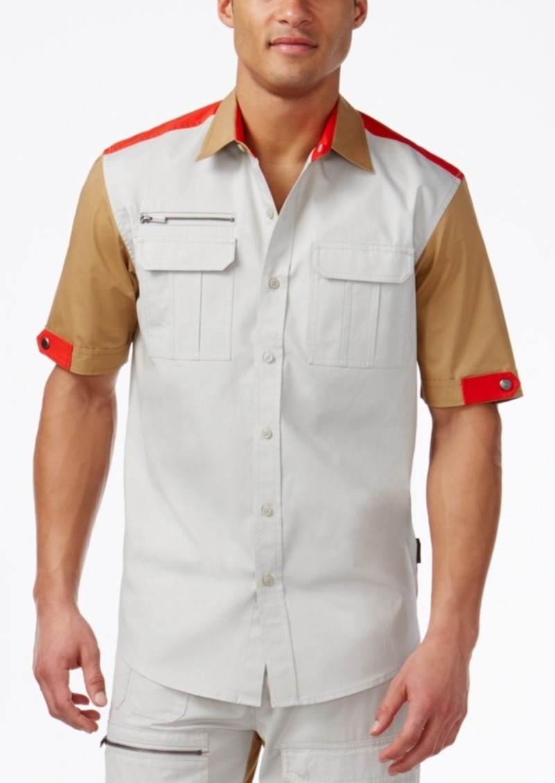Sean John Men's Colorblocked Flight Shirt