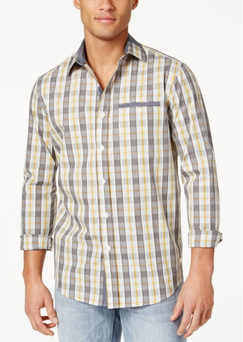 Sean john sean john men 39 s cotton plaid shirt created for for Sean john t shirts for mens