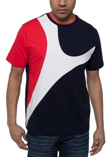 Sean John Men's Curved Colorblocked T-Shirt