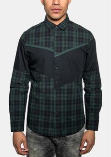 Sean John Men's Diagonal Pieced Plaid Shirt