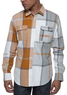 Sean John Men's Divided Plaid Shirt