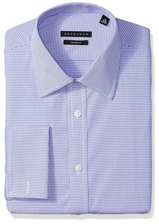 Sean John Men's Dress Shirt Regular Fit Mini Check