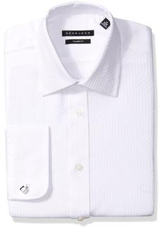 Sean John Men's Dress Shirt Regular Fit Solid Spread Collar