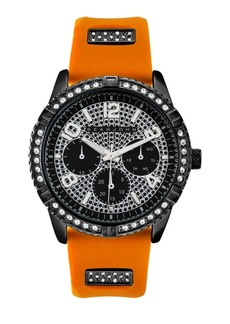 Sean John Men's Dress Sport 3 Hands Orange Silicon Strap Watch 46mm