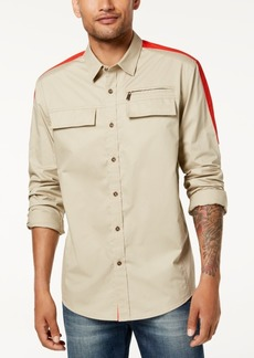 Sean John Men's Dual-Pocket Flight Shirt