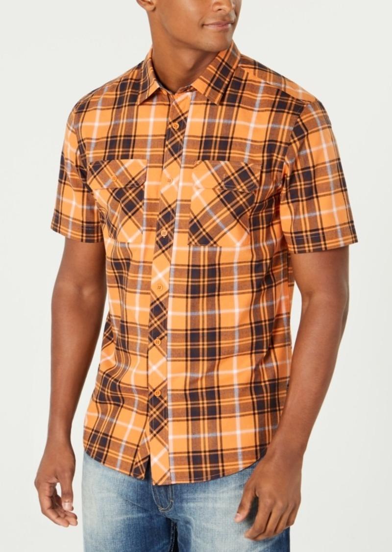 Sean John Men's Dual-Pocket Plaid Shirt