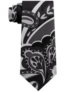 Sean John Men's Exploded Multi Paisley Print Silk Tie