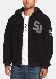 Sean John Men's Fleece-Lined Hooded Bomber Jacket