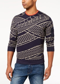 Sean John Men's Flight Snake-Print Sweater, Created for Macy's