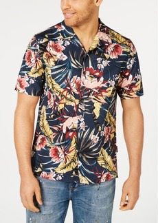 Sean John Men's Floral Resort Shirt