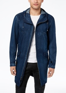 Sean John Men's Full-Zip Hooded Denim Coat, Created for Macy's