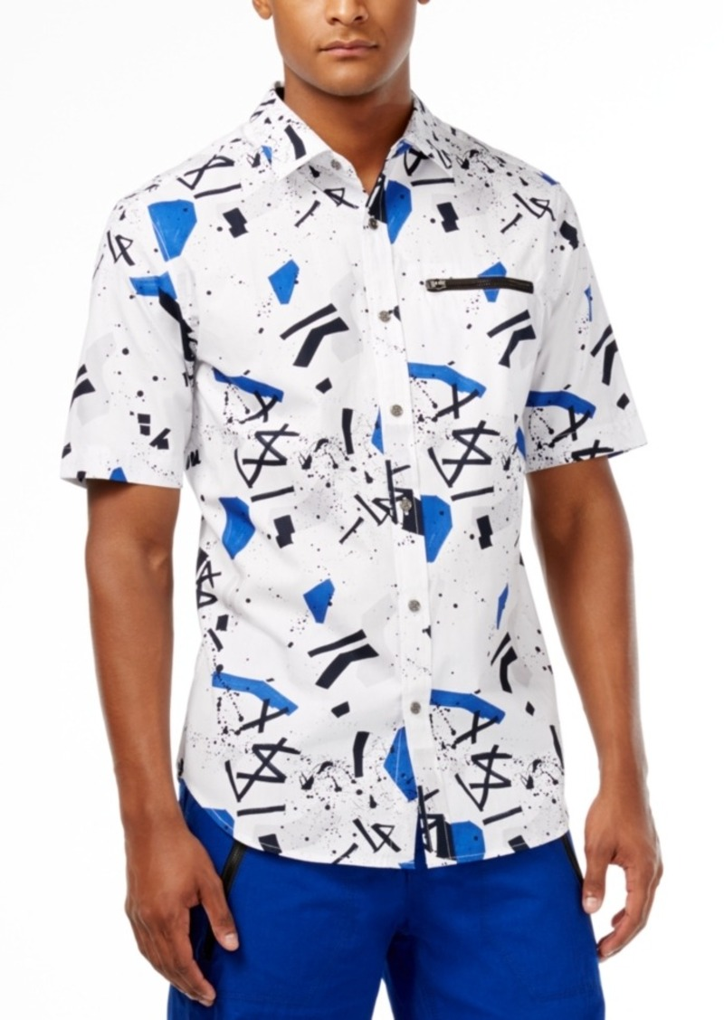Sean John Men's Graffiti-Print Short-Sleeve Shirt