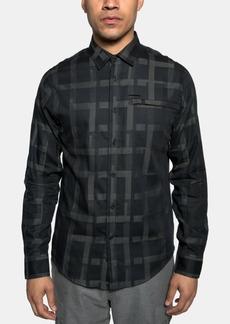 Sean John Men's Large Grid Shirt