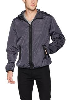 Sean John Men's Lightweight & Water Resistant Hooded Camouflage Windbreaker