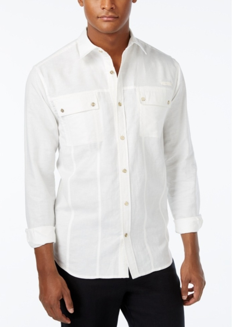 Sean John Men's Big & Tall Lightweight Long-Sleeve Shirt