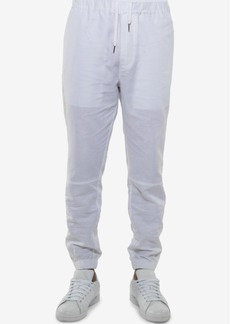 Sean John Men's Linen Blend White Party Jogger Pants, Created for Macy's
