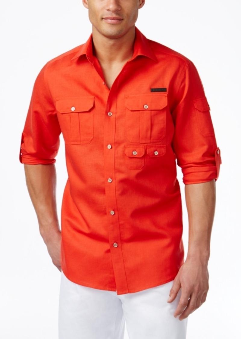 Sean John Men's Linen Flight Shirt