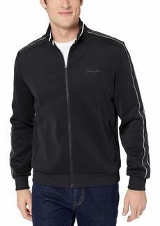 Sean John Men's Logo Taping Neoprene Jacket  L