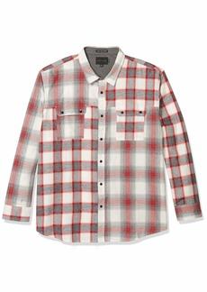 Sean John Men's Long Sleeve Button Up Contrast Plaid Shirt  L