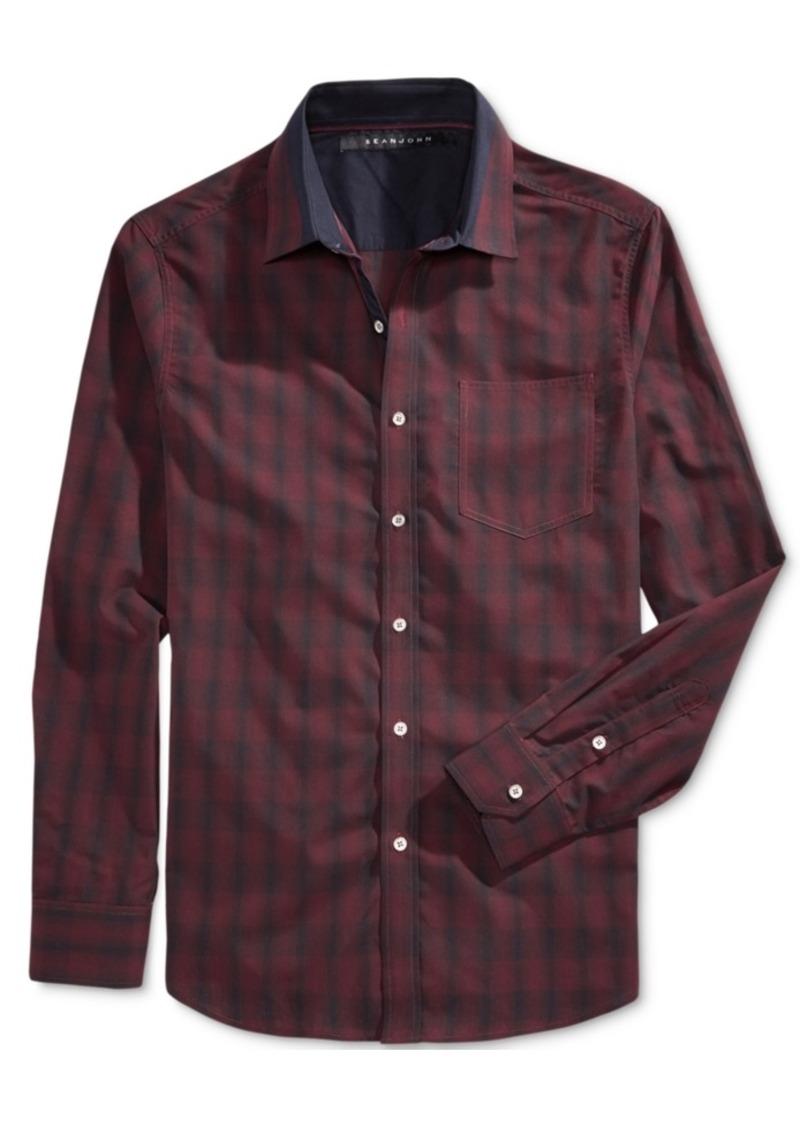 Sean John Men's Long-Sleeve Plaid Shirt