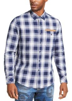 Sean John Men's Melange Plaid Shirt