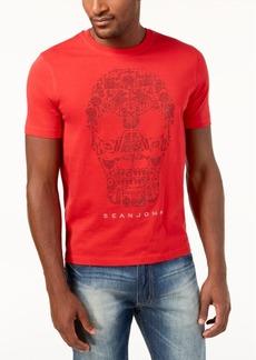 Sean John Men's Mini-Stud Skull T-Shirt