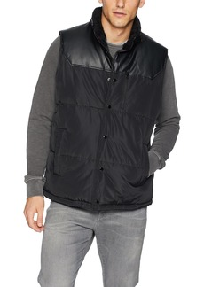 Sean John Men's Mixed Media Vest with Sherpa