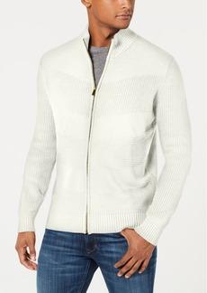 Sean John Men's Mock Neck Full Zip Sweater