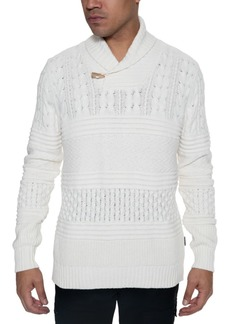 Sean John Men's Multi-Pattern Shawl Collar Sweater