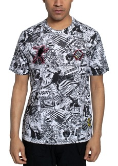 Sean John Men's Newspaper Print T-shirt