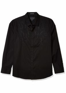 Sean John Men's Opulence Panther Long Sleeve Button Down Shirt  XXX-Large