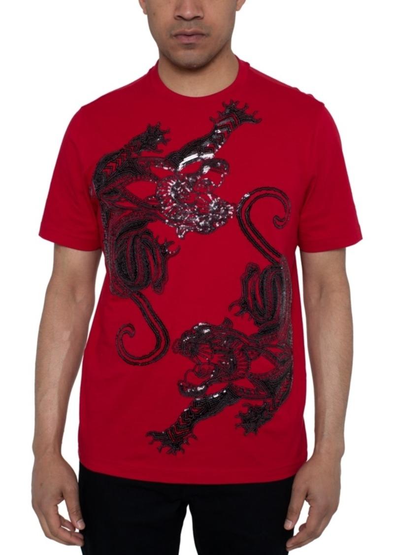 Sean John Men's Panther Dance Sequin Graphic T-Shirt