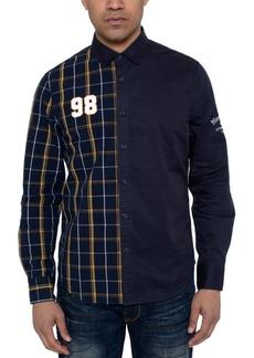 Sean John Men's Partial Plaid 98 Shirt